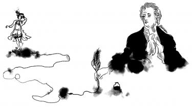 Informations anmelder havde tænkt sig at afstå fra at skifte rolle fra taknemmeligt klappende Goethe-fan til fluekneppende pedant, men der er skæverter i oversættelsen