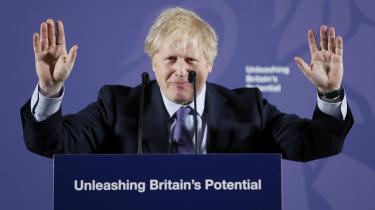 Den britiske premierminister Boris Johnson lægger an til at sætte hårdt mod hårdt i de kommende forhandlinger med EU om en handelsaftale.
