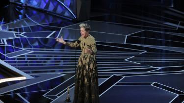 Frances McDormand opfordrede kolleger til at kræve mangfoldighed under sin takketale ved oscaruddelingen i 2018.