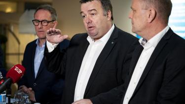 »Vi rammer den lige i bulls eye«, sagde Dansk Metals formand, Claus Jensen, da han søndag præsenterede overenskomstaftalen for industiområdet ved en pressekonference i Industriens Hus.