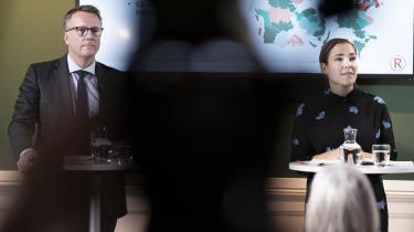 Fungerende finansminister Morten Bødskov og social- og indenrigsminister Astrid Krag holdte pressemøde om regeringens udspil til en udligningsreform, i Finansministeriet torsdag den 30. januar 2020. Regeringen har allerede to gange måtte rette større beløb i det samlede regnestykke, i forbindelse med udspillet af udligningsreformen, og det er problematisk mener dagens lederskribent, David Rehling.