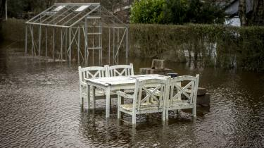 Denne vinter har budt på oversvømmelser flere steder i landet, hvor mange danskere har berettet om oversvømmede haver. Her er det et billede fra Holstebro.