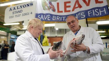 Fiskeri bliver et af de første emner ved forhandlingerne om en frihandelsaftale mellem EU og Storbritannien, og her spiller symbolik og følelser en næsten større rolle end indholdet. Fiskeri var en vigtig del af Vote Leave's Take Back Control-kampagne i 2016.