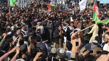 Afghanere i Kunduz fejrer aftalen mellem USA og Teleban, som blev indgået i weekenden.