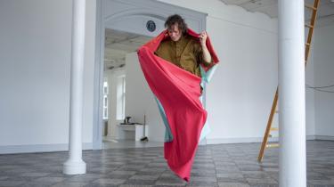 Kunstneren Adam Christensen fotograferet i soloudstillingen Shitty Heartbreaker på Overgaden i 2018