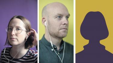 Julie Søholm, Martin Zoffmann og Ulla Jensen udgør Informations nye podcastpanel. For at beskytte 71-årige Ulla Jensen mod coronavirus har hun ikke haft besøg af en fotograf.