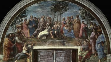 På Raphaels 'Il Parnaso' (Parnasset, red.), der pryder væggen i paladset i Vatikanet, ses både Apollon (i midten) og Homer (i blåt til venstre).