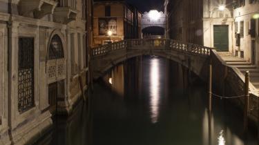 Den sidste karantænenat i Venedig, byen, der har op mod 30 millioner besøgende årligt.