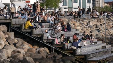 Statsministeren understregede, at Danmark er i dialog med Sverige om en løsning, hvor grænsen mellem landene i et første skridt kun åbner mod Skåne. Her ses et billede fra Malmø.