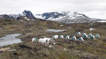 Mineralefterforskning på Kvanefjeldet i Sydgrønland tilbage i 2009.