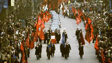 Olof Palme blev begravet den 15. marts 1986.