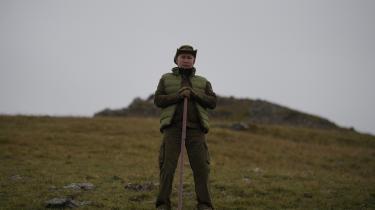 Præsident Vladimir Putin på en græssteppe i Sibirien.