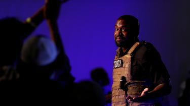 Kanye West afholdt sit første vælgermøde i North Carolina søndag.