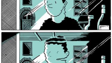 Lars Kramhøft udfolder det bløde søgende mandebillede med klompeksitet og godt tegneseriehåndværk i 'Noget frygteligt er altid lige ved at ske'.