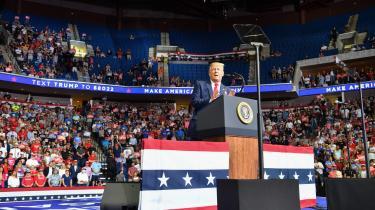 TikTok-brugere saboterede Trumps stort anlagte vælgermøde i juni i Tulsa.