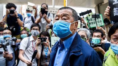 Jimmy Lai, som mandag morgen blev anholdt, er nu igen blevet frigivet mod kaution i Hongkong.