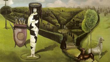 Leonora Carringtons maleri Green Tea fra 1942 kalder Susanne Christensen »et kriseminde fra Santander«, hvor Carrington var indlagt og »lå forkrampet og fastspændt i sit eget skidt«.