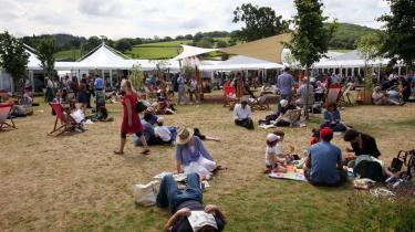 Hay Festival i Wales i en tid, hvor alting ikke pludselig foregik online.