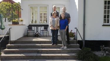 Kejsegården har været familien Nicolajsens siden 1911: Aage, hans kone Grete, datteren Heidi og svigersøn Frederik.