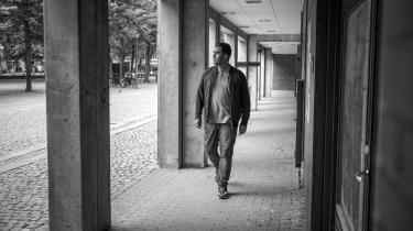 I mandags fik Danmark endnu et nyt parti: Frie Grønne. På Blågårds Plads på Nørrebro præsenterede de tre tilbageværende Alternativet-afhoppere i Folketinget deres nye projekt. Her ses partiets formand Sikandar Siddique.