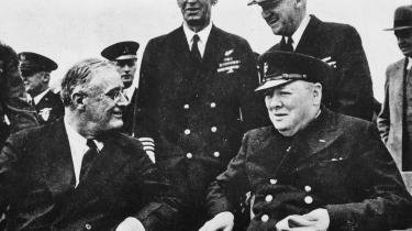 Den amerikanske præsident Franklin D. Roosevelt og den britiske premierminister Winston Churchill indgik i 1941 Altlanterhavspagten, som var med til at forme efterkrigstidens internationale orden.