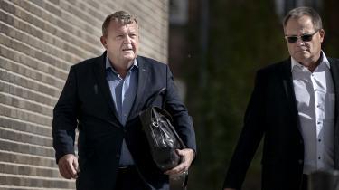 Lars Løkke Rasmussen ankom i går til Retten på Frederikberg, hvor instrukskommissionen fortsatte sine afhøringer.