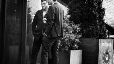 Den daværende chef for ledelsessekretariatet i Udlændinge- og Integrationsministeriet Jonas From Soelberg kunne ikke huske, at det notat, som Inger Støjberg skulle have godkendt, og som åbnede for undtagelser, spillede nogen som helst rolle. På billedet (t.v.) ses han sammen med sin bisidder, advokat Eddie Khawaja.