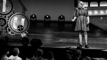 Sofie Linde ved Zulu Comedy Galla tidligere i år.