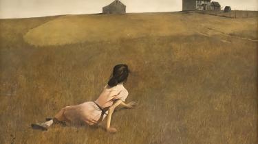 'Christina's World' rummer en grundlæggende amerikansk myte, som Jackson Pollocks individ- og frihedsdyrkelse vokser ud af. En landlig version af liberalismens drømme, om man vil.