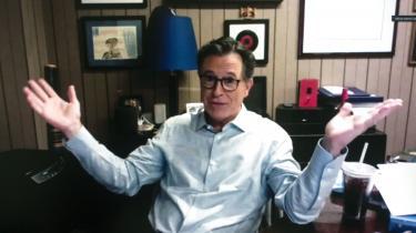 Stephen Colbert håber at få »det vi har tigget og bedt om: en kedelig præsident.«