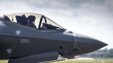 Danmark stod i 2015 foran at skulle købe nye kampfly og valget stod mellem fire fly, heriblandt amerikanske Joint Fight Striker (billedet). Og det var formentlig kampflykøbet, som fik NSA til – ifølge DR – at spionere mod danske ministerier og den danske virksomhed Terma.