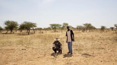 Landmænd i Sahel-regionen i den nordlige del af Burkina Faso, som er hårdt ramt af klimaforandringer og tørke.
