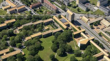 Luftfoto af Aarhus Universitet, 2019.