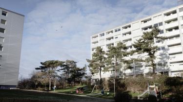Boligområdet Nøjsomhed i Helsingør er et af de 15 såkaldte 'ghettoområder' på ghettolisten, som i 2020 altså blev noget kortere. Arkivfoto.