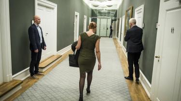 Bortset fra sin egen bisidder er der ikke meget juridisk støtte til den tidligere udlændninge- og integrationsminister Inger Støjberg.
