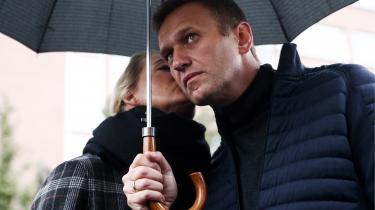 Oppositionsleder Alexei Navalnij og hans hustru Yulia.