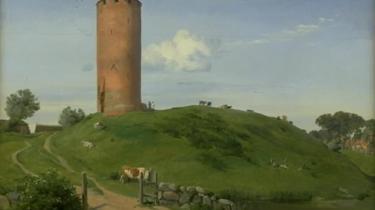 Johan Thomas Lundbye: 'Gåsetårnet i Vordingborg', 1842