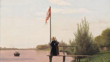 Christen Købke: 'Udsigt over dosseringen fra Sortedamssøen mod Nørrebro', 1838.