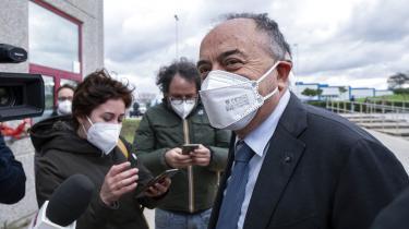 Chefanklager og mafiajæger Nicola Gratteri ankommer 13. januar til den specialbyggede retssal i Lamezia Terme, hvor retssagen mod mere end 300 anklagede fra mafiaklanen 'Ndrangheta skal føres.