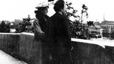 Gustav Mahler og hans hustru, Alma Mahler, fotograferet i 1905.