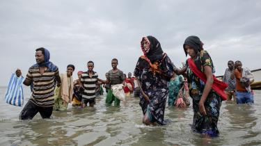 Etiopiske migranter går i land i Yemen sidste sommer. Siden 2015 har Saudi-Arabien og de andre golfstater efterhånden overhalet Europa som det foretrukne migrationsmål for afrikanske migranter.