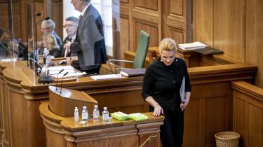 Inger Støjberg leverede sin egen tale som den sidste deltager i debatten fra Folketingets talerstol.