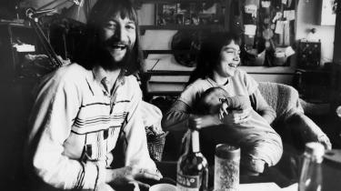 Lilli Toftemark Jacobsen med sin datter og barnets far kaldet Maleren, Roskilde 1976.