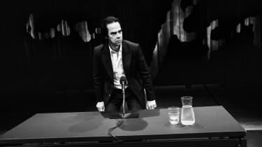 Nick Cave til pressemøde i forbindelse med udstillingen 'Stranger Than Kindness', der kunne opleves i København sidste år i Den Sorte Diamant.
