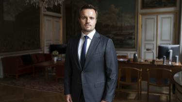 Erhvervsminister, Simon Kollerup (S), fotograferet i Erhvervsministeriet.