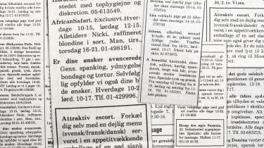 Man tror, det er Ekstra Bladet, men der er tale om annoncer bragt i Information i 1981.