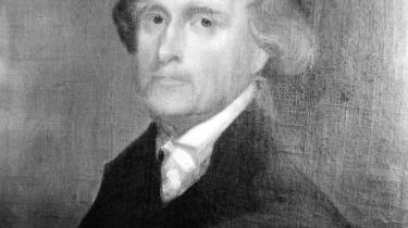 Portræt af Thomas Jefferson, som var med til at nedskrive den amerikanske forfatning.