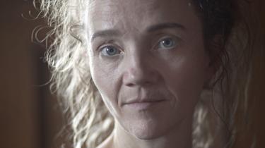 Arkivfoto af Ursula Andkjær Olsen, da hun debuterede med sin første roman, Krisehæfterne.