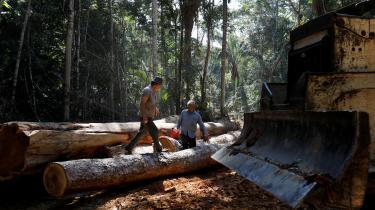 Frihandelsaftalen mellem EU og Mercosur-landene kritiseres af de danske organisationer for at være 'lavet i en anden tid', inden Parisaftalen fra 2015, og derfor ikke i tilstrækkelig grad tager hensyn til klimaet. Her er et arkivfoto af skovrydning i Brasilien.