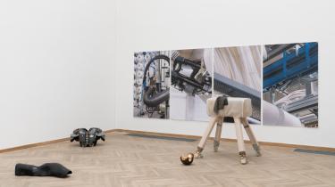 Alma Ulrikke Bille Stræde, Penelope / robotics 1 (2021), Afgang 2021, Kunsthal Charlottenborg. Foto: David Stjernholm.